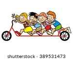 scooter and children | Shutterstock .eps vector #389531473