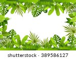 jungle. plants | Shutterstock .eps vector #389586127