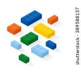 colorful bricks background.... | Shutterstock .eps vector #389588137