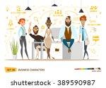 business characters scene.... | Shutterstock .eps vector #389590987