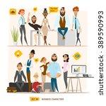 business characters scene.... | Shutterstock .eps vector #389590993