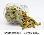 A Jar Of Pistachio Nuts