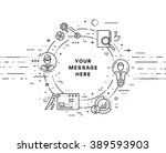 flat style  thin line art... | Shutterstock .eps vector #389593903