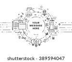 flat style  thin line art... | Shutterstock .eps vector #389594047