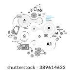 flat style  thin line art... | Shutterstock .eps vector #389614633