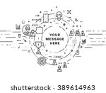 flat style  thin line art... | Shutterstock .eps vector #389614963