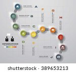 timeline infographic10 steps...   Shutterstock .eps vector #389653213