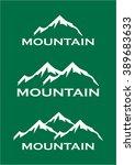 mountain symbol | Shutterstock .eps vector #389683633