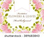 vintage delicate invitation... | Shutterstock . vector #389683843