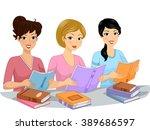 illustration of the female... | Shutterstock .eps vector #389686597