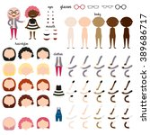 girl character. parts of body... | Shutterstock .eps vector #389686717