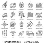 thin line icons set. business... | Shutterstock .eps vector #389698207