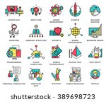 thin line icons set. business... | Shutterstock .eps vector #389698723