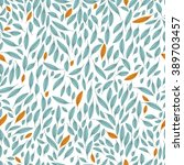 seamless pattern of leaves.... | Shutterstock .eps vector #389703457