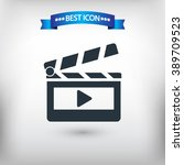 clapper board vector eps 10 and ... | Shutterstock .eps vector #389709523