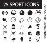 sport icon set | Shutterstock .eps vector #389729827