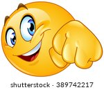 emoticon giving a fist bump | Shutterstock .eps vector #389742217