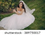 gorgeous wedding and beautiful...   Shutterstock . vector #389750017