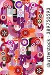 abstract design.  vector art... | Shutterstock .eps vector #389750593