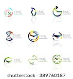 linear time and clock abstract... | Shutterstock .eps vector #389760187