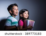 cute happy little indian boy... | Shutterstock . vector #389773183