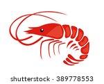 shrimp  | Shutterstock .eps vector #389778553