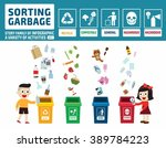 children litter. separation... | Shutterstock .eps vector #389784223