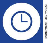 clock face. vector icon blue...