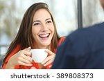 portrait of a happy woman... | Shutterstock . vector #389808373