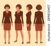 Vector Woman Cartoon Character...