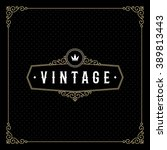 vintage emblem template with... | Shutterstock .eps vector #389813443
