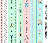 tribal art boho seamless...   Shutterstock .eps vector #389848633