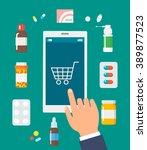 online pharmacy isolated vector ... | Shutterstock .eps vector #389877523