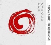 zen red circle  vector | Shutterstock .eps vector #389879287
