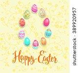 positive easter card  for... | Shutterstock .eps vector #389920957