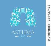 world asthma day awareness... | Shutterstock .eps vector #389927413