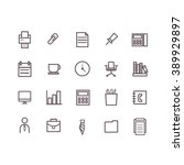 office icon set vector. | Shutterstock .eps vector #389929897