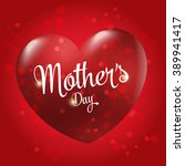 mother's day badge with hearts  ... | Shutterstock .eps vector #389941417