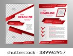 vector flyer template design.... | Shutterstock .eps vector #389962957