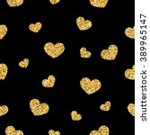 Golden Hearts Seamless Pattern...
