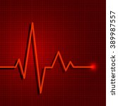 heart pulse graphic. vector... | Shutterstock .eps vector #389987557