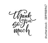 thank you so much card. hand... | Shutterstock .eps vector #389988967