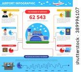 work of airport infographic... | Shutterstock .eps vector #389996107
