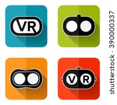 set of web icons or flat design ... | Shutterstock .eps vector #390000337