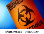 orange bio hazard sign... | Shutterstock . vector #39000229
