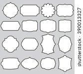 set of vector frames   Shutterstock .eps vector #390013327