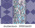 set of 3 abstract patterns.... | Shutterstock .eps vector #390016633