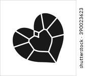 jewel diamond  simple icon on... | Shutterstock .eps vector #390023623