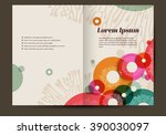 brochure template with colorful ...   Shutterstock .eps vector #390030097