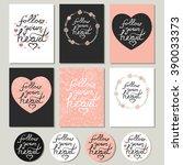 follow your heart. cute... | Shutterstock .eps vector #390033373